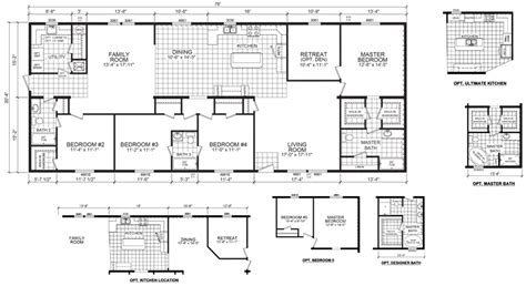 modular home plans missouri westbrook 32 x 76 2305 sqft mobile home factory expo