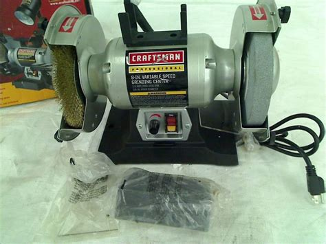 craftsman 6 bench grinder craftsman professional variable speed 6 quot bench grinder ebay