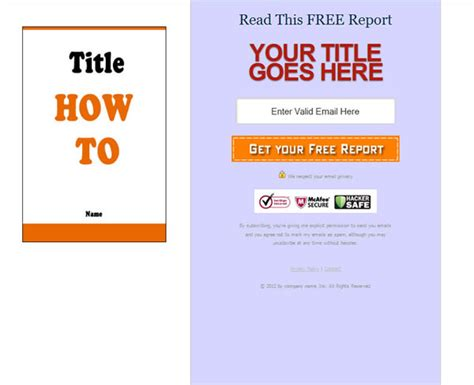 10 Squeeze Page Templates Free Squeeze Page Templates