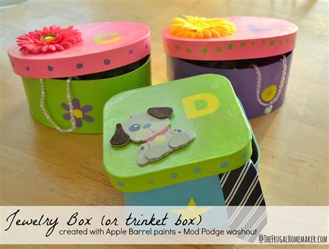 box craft for jewelry box or trinket box craft with plaid crafts