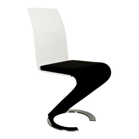 chaise design noir deco in table 6 chaises design noir et blanc elyse
