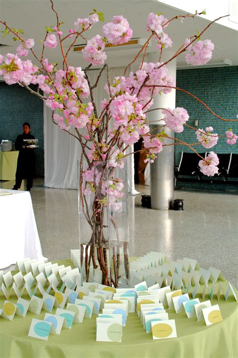 cherry blossom arrangements wedding accessories ideas