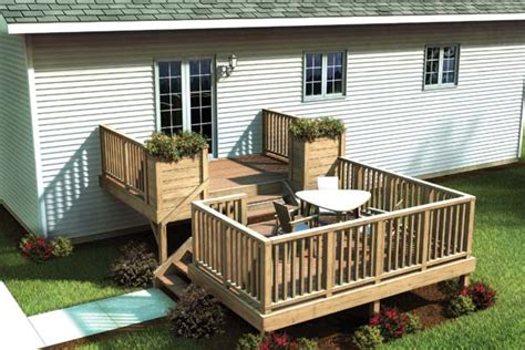 project plan 90017 split level simply fancy deck
