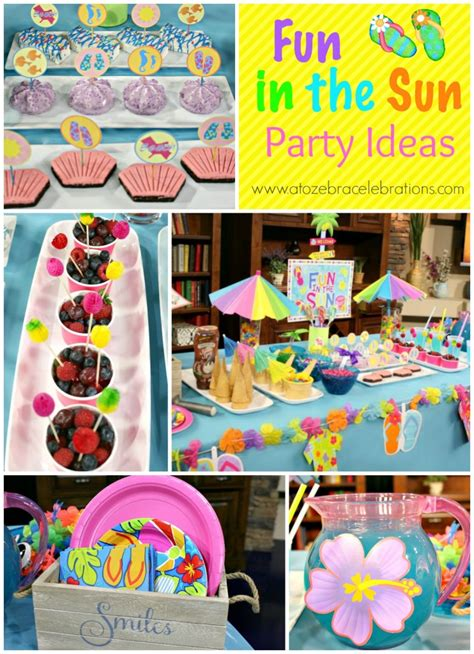 summer party decorations summer party ideas a to zebra celebrations