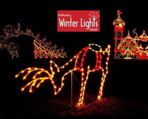 winter lights festival gaithersburg week night admission for one car to the city of