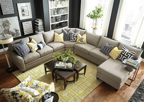 Grey Occasional Chair Design Ideas Inspiring U Shaped Sofa Themed In Grey With Cushions And Combined With Accent Chairs For Living