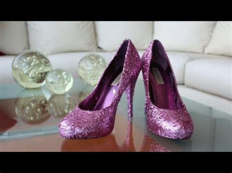 decorar zapatillas con glitter diy personaliza tus zapatillas youtube