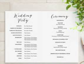 free wedding program template wedding program template classic wedding program template