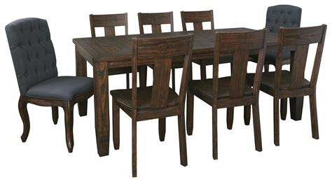 9 Piece Rectangular Dining Table Set With Upholstered 9 Dining Table Set