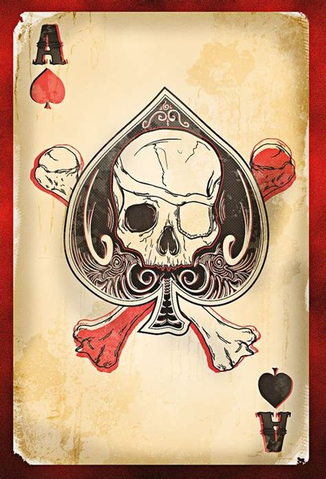 skull spade tattoo designs skulls ace of spades and on