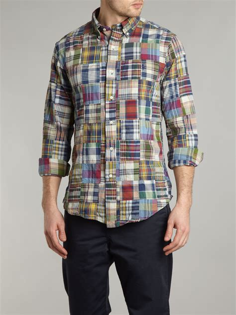 Patchwork Shirts - polo ralph patchwork plaid shirt for lyst