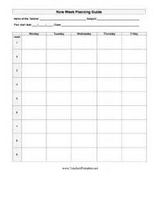 Semester At A Glance Template by 17 Best Images About Blank Lessons Plans On