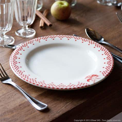assiette plate damier comptoir de famille