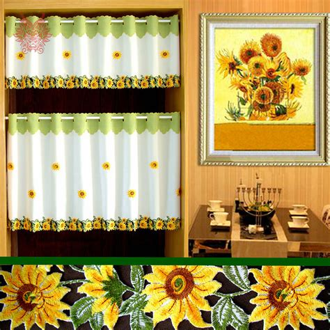 Sunflower Kitchen Curtains Get Cheap Sunflower Kitchen Curtains Aliexpress Alibaba