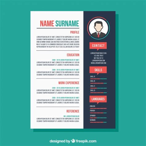colourful resume templates creative colorful cv template vector free