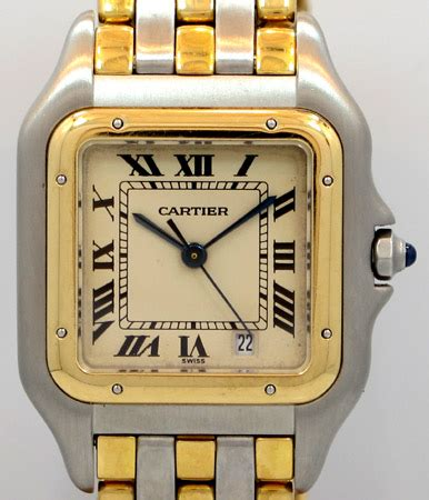 sale cartier latulip ar 978 1990 s cartier panthere junior mid size two tone 3 rows of