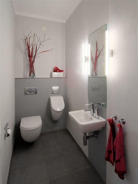 gaestetoilette gaeste wc mit urinal ideen fuer gaestebad