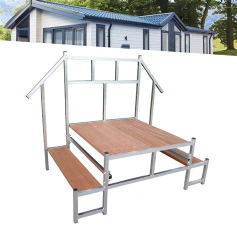 aluminium trap met leuning aluminium stacaravan trap met leuning muha stacaravan