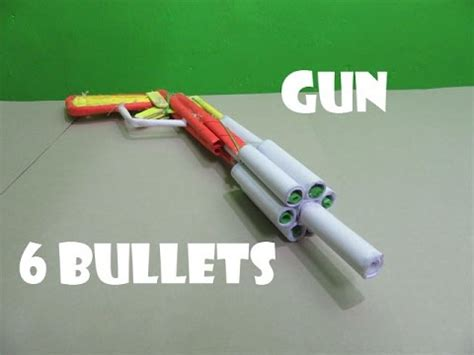 How To Make A Paper Bullet - how to make a poweful paper gun that shoots 6 paper