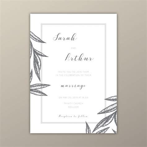 Minimal Wedding Anniversary Cards Templates Vector by Minimalist Wedding Invitation Template With Illustrations