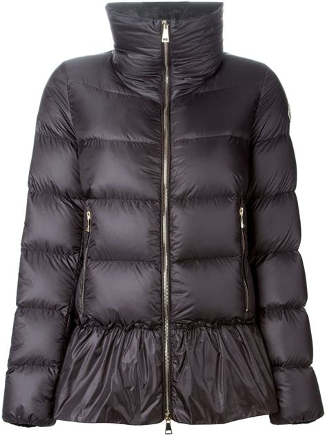 moncler anet quilted jacket in gray grey lyst