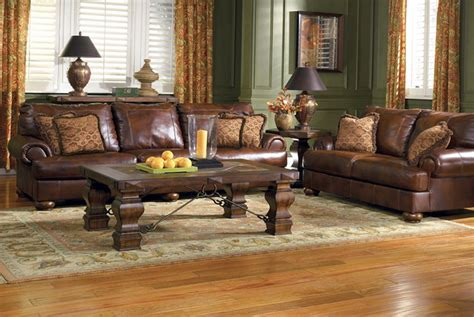 awesome grande brown sofa with green walls and yellow curtain furniture nrd homes