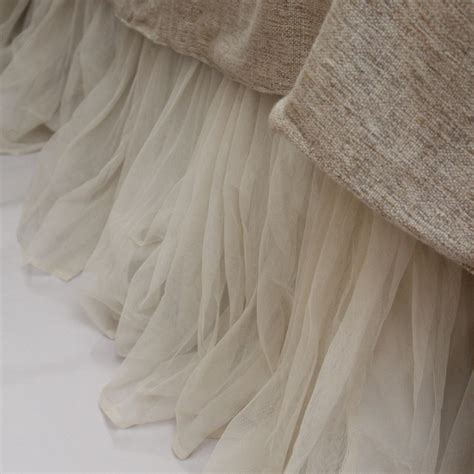 whisper ivory bed skirt by couture dreams