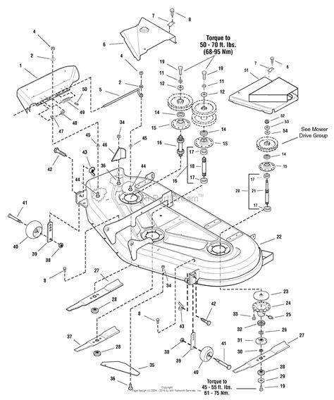 mower diagram simplicity mower deck parts 1694366 simplicity tractor