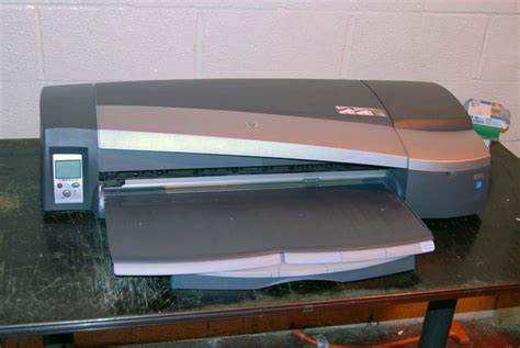 Roll Printer Hp lot 37 hp designjet 130 24 quot roll fed color printer wirebids