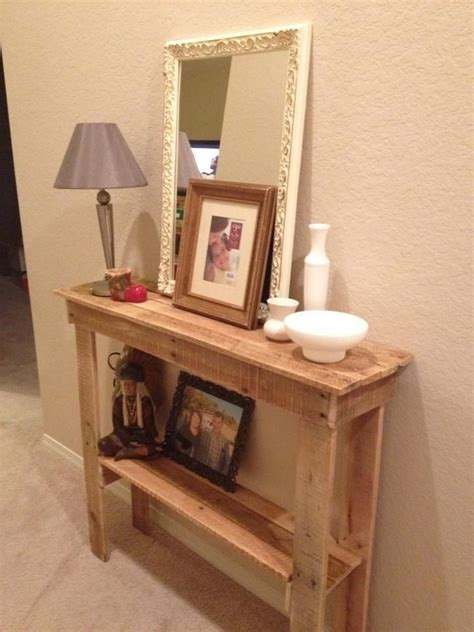 foyer table ideas rustic foyer table made from pallets my is awesome