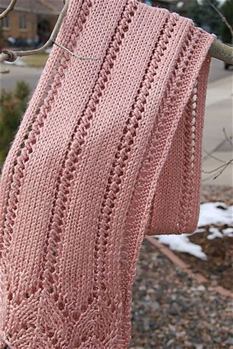 knit scarf pattern lace free knitting patterns for lacy scarves crochet and knit