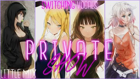 nightcore word up little mix youtube nightcore private show switching vocals little mix
