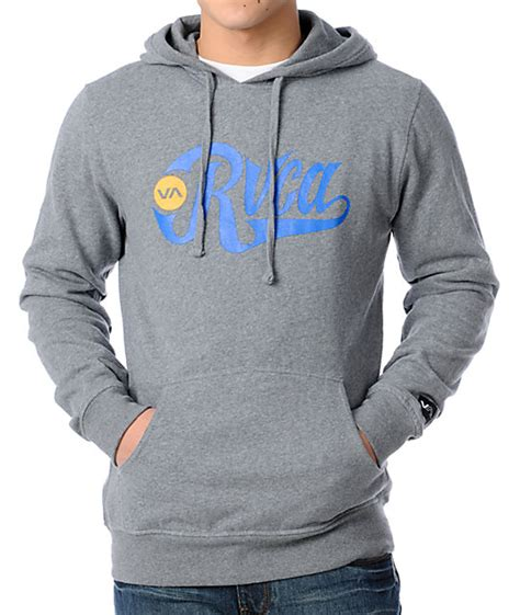 Hoodie Rvca Boombers rvca bombers grey pullover hoodie