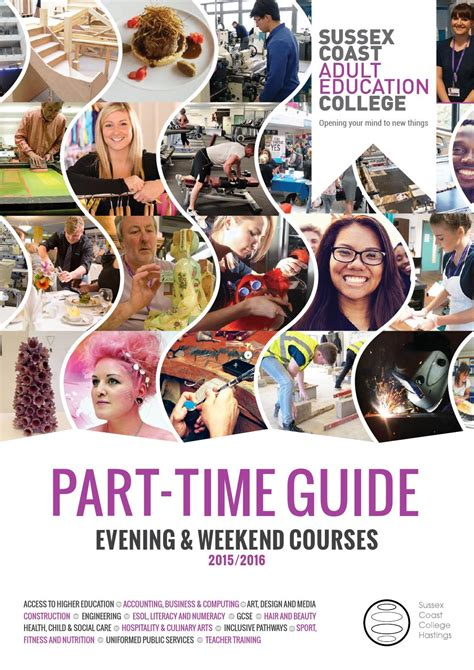 part time guide evening and weekend courses 15 16 by