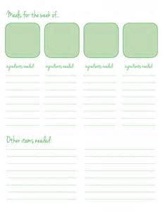 menu planning template with grocery list texan menu planning grocery list a free