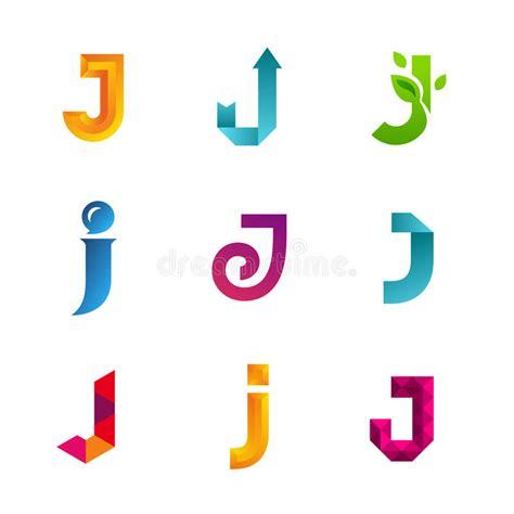 Set Of Letter J Logo Icons Design Template Elements ... J Logo