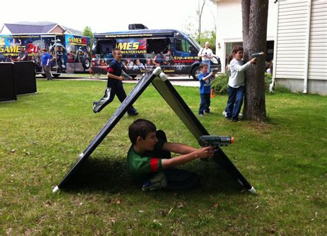 backyard laser tag our outdoor laser tag can use our bunkers your