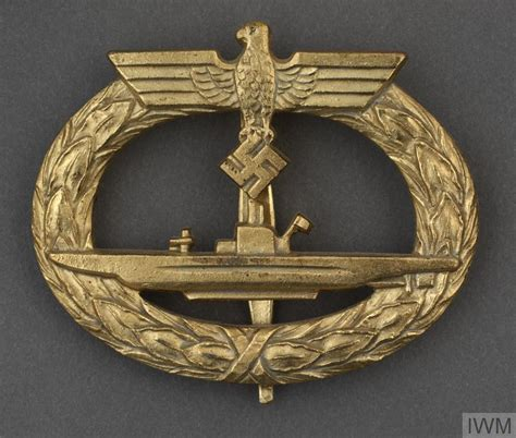 german u boat gold badge german u boat war service badge in gold ins 8007