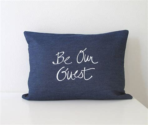 Guest Pillow Pillow Cover Cushion Cover Be Our Guest 12 X 16 Inches
