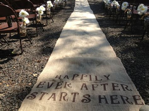 Wedding Aisle Hessian by Hessian Aisle Runner Stencilled Ceremony Aisle