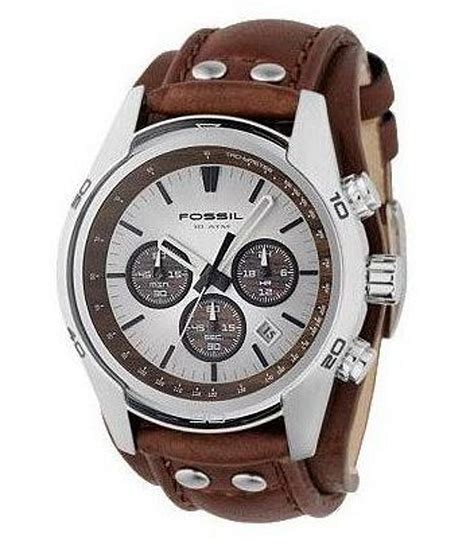 Fossil Chronograph Leather Straph 1 Fossil Leather Chronograph Dillards