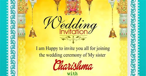 Indian Wedding Invitation Card Template Psd Free by Indian Wedding Invitation Wordings Psd Template Free For