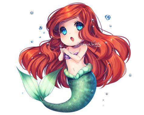 anime chibi chibi ariel by sasucchi95 on deviantart