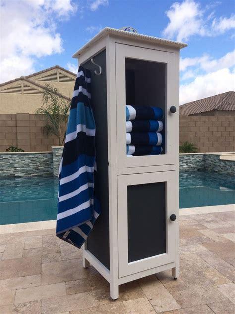 outdoor pool towel storage cabinet best 25 pool towel storage ideas on pool