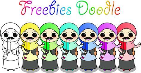 freebies doodle wadah madrasah pengalaman freebies muslimah doodle with