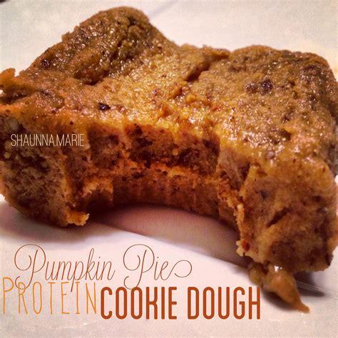 protein cookie dough healthy fall desserts pumpkin protein cookie dough
