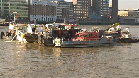 thames river cruise sinking investigation after the wyndham pleasure boat partially