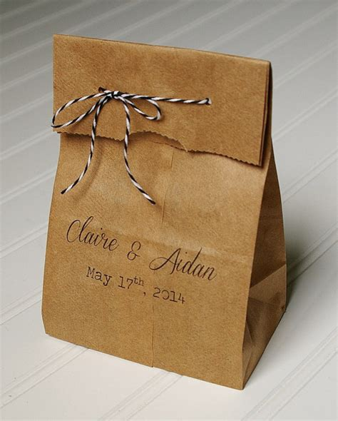 personalized wedding favor bags rustic paper bags by