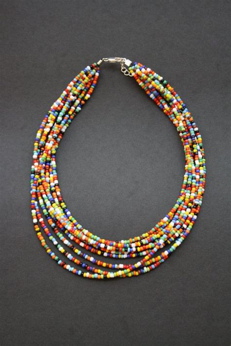 indian bead necklace indian seed bead necklace