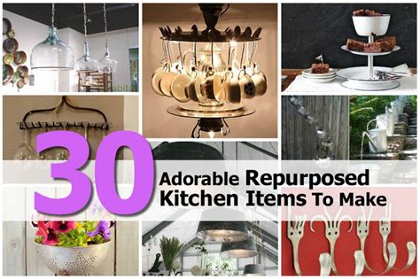 Experiments With Kitchen Items 30 Adorable Repurposed Kitchen Items To Make